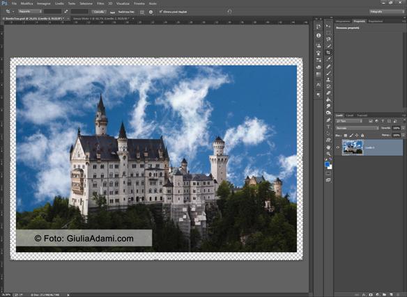 Come aggiungere un Bordo trasparente a una Foto in Ps