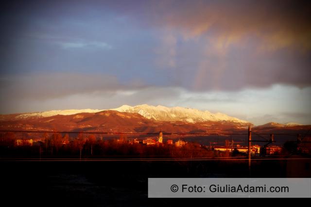 Foto Panorama Monte Baldo Innevato
