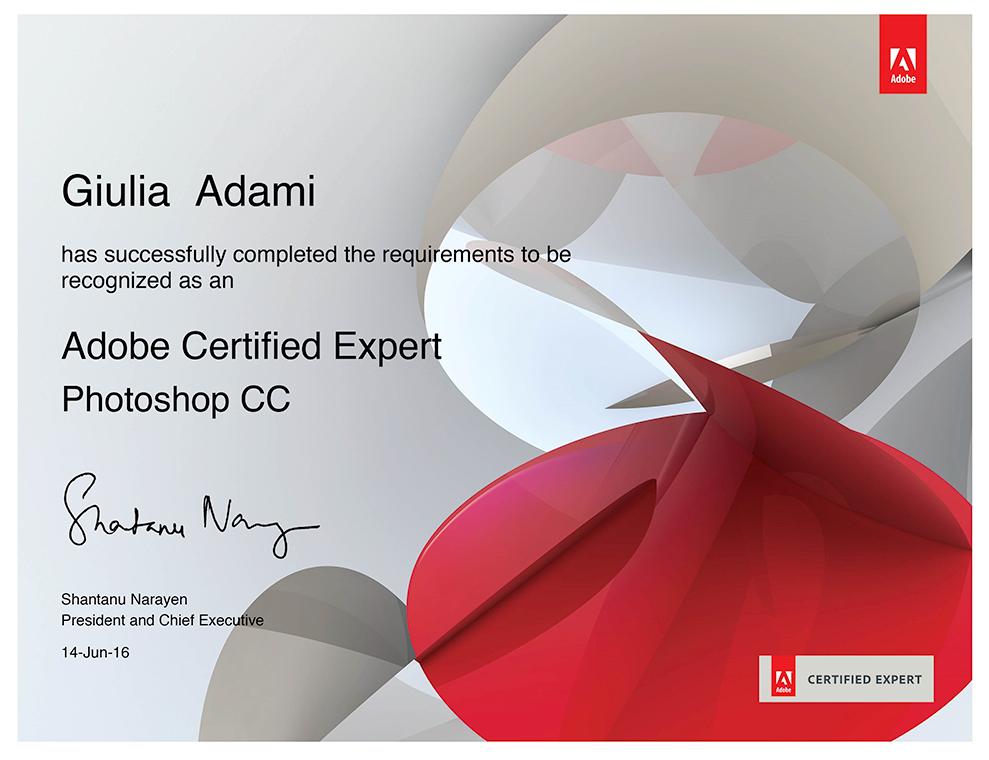 Giulia Adami Adobe Certified Expert